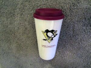 Pittsburgh Penguins 2013 Season TRAVEL MUG SGA 3-10-13 PROMO Cancer Tumbler