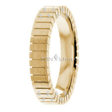 Womens Solid 10K Gold Wedding Bands Rings 4mm Modern Womens Wedding Band Ring
