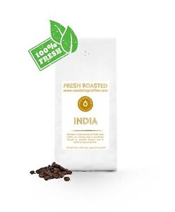 Indian Monsoon Malabar Freshly Drum Roasted Coffee Beans 1kg High Grade Arabica