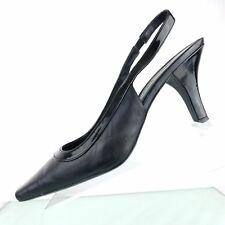 Worthington Womens Sling Back Pump Size 8.5 m Black Leather Upper