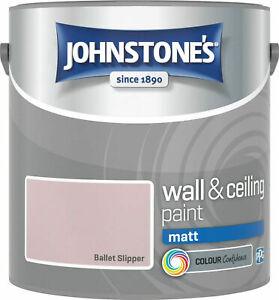 Johnstone's Wall & Ceiling Matt Emulsion Paint 2.5 Litre  - ALL COLOURS