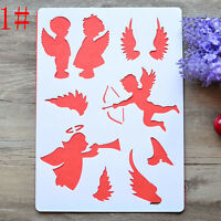 DIY Craft Tool Angel Layering Stencils Painting Scrapbooking Stamps Album Cute