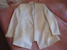 Dinner-Jacket von Wilvorst & Smoking-Hose. Beides in  Gr. 98 | Sakko cremeweiß