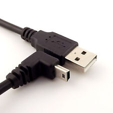 10x 1FT Mini USB Male 90 Degree UP Angled to USB 2.0 A Male for Camera Mp4 GPS