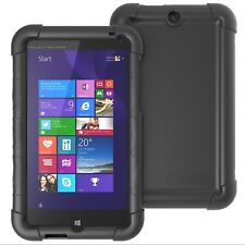 Poetic Turtle Skin【Bumper Cover Rugged Silicone】Case Cover For HP Stream 7 Black