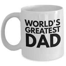 Cool Worlds Greatest Dad Coffee Mug Gift From Daughter Son Wife Father Birth Day