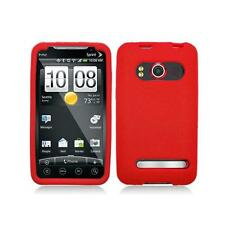 Red Silicone Skin Case Cover for HTC Evo 4G A9292