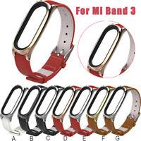 Fashion Replacement PU Leather Smart Wristband Watch Strap For Xiaomi Mi band 3