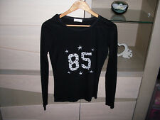 "♥♥ tee-shirt manches longues noir ""cache cache"" 36/38 état neuf ♥♥"