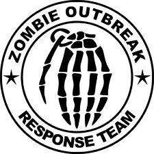 Zombie brote equipo de respuesta Funny car/ipad Jdm Vw Euro Vinilo calcomanía sticker5
