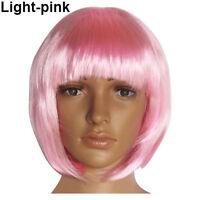 EG_ Women Fashion Short Straight Hair Full Cosplay Bob Hair Evening Party Wig As