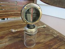 1920's large Boyce Moto Meter large brass dogbone rad cap nice condition stand