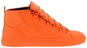 Balenciaga Arena Orange Fluo Leather Sneakers 412381 Size 43