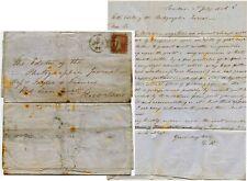 Début de la photographie 1856 lettre à Taylor + Francis RE collodion problèmes
