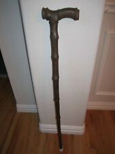 "VINTAGE WALKING CANE - UNKNOWN WOOD - SOFT TO THE TOUCH - 35"" TALL - NICE"