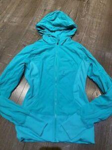 Lululemon In Flux jacket size 8 Teal