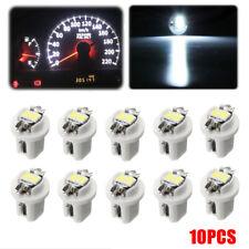 10X White 12V T5 B8.5D 2LED Car Dash Wedge Gauge Instrument Side Light Bulb S