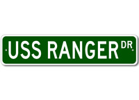 USS RANGER CV 61 Ship Navy Sailor Metal Street Sign - Aluminum