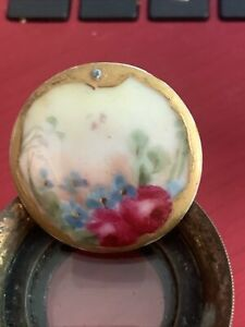 EARLY FRENCH PORCELAIN  LIMOGE BUTTON