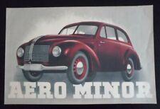 AERO MINOR (Czechoslovakia) Car original 1946-1952 Sales Brochure in English