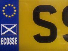 """Ecosse Decusse TARGA UE AUTO Adesivo Decalcomania 1.5""""x4.5"""""""