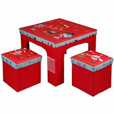Childrens Kids Folding Pirate Table And Two Chairs Stool Set Foldable Furniture