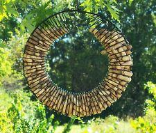 Whole Peanut Wire Wreath Metal Squirrel Feeder Blue Jays Birds Hang Tree Hanging