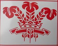Welsh Wales 3 feathers sticker decal cars fun stickers van bumper decal 5404 Red