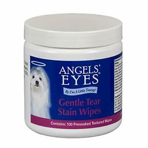 Angel's Eyes Gentle Tear Stain Wipes for Dogs - 100 Ct - Presoaked Textured