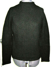 NICE PHILIPPE ADEC PARIS 100% CASHMERE BLACK KNIT SWEATER ROLLED COLLAR LARGE L