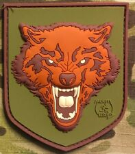 Morale patch JTG wolf shield rubber 3D hook and loop airsoft bike