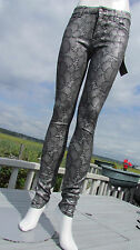 NEW 7 For All Mankind sz 26 jeans silver black lace sexy leggings skinny hot wow
