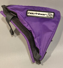 "Vintage Nashbar Bike Bicycle Triangle Frame Bag Purple w/ Reflective Logo 10X8"""