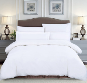 400 THREAD COUNT KING SIZE FITTED SHEET WHITE
