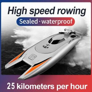 High Speed Racing Boat with Battery and Remote Dual Motor 25KMH Play Gift Toy A+