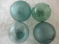 4 Vintage Uncommon Trademarked Japanese Glass Floats Alaska Beach Combed
