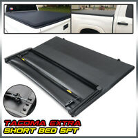 5Ft Short Truck Bed Soft 3-Fold Tonneau Cover For 2005-2015 Toyota Tacoma Extra