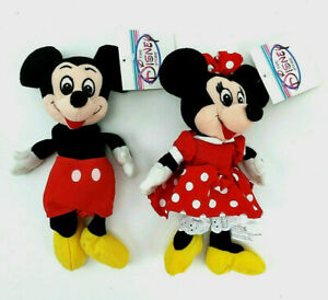Disney Store Mickey & Minnie Plush Bean 90s