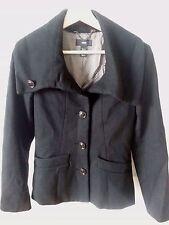 H&M  Women's Black Winter Coat / Peacoat, US 4 EUR 34