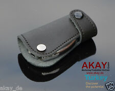 Leather Smart key case fob cover for Benz E C S 63 AMG SLS CARLSSON BRABUS Black