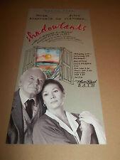 "THEATRE ROYAL BATH "" SHADOWLANDS ""  HANDBILL FLYER / BOOKLET 1991"
