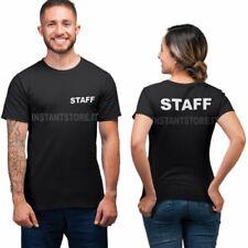 T-Shirt Personalizzata Staff unisex maglietta nera per bar locali negozi ecc