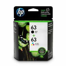 HP 63 Lot de 2 cartouches d'encre d'origine noir/tricolore (L0R46AN)