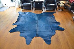 Kuhfell Rinderfell Teppich Lifestyle Designer ausdrucksstark Petrol 3-4m², WOC