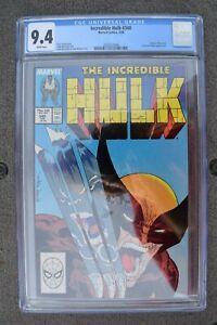 Incredible Hulk #340 CGC 9.4 Hulk vs. Wolverine Todd McFarlane White Pages