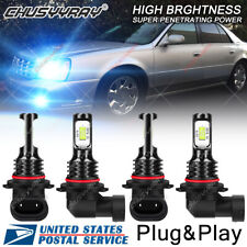 8000K Front LED Headlight Bulbs For Cadillac DeVille 1987-2005 Hi/Lo Beam Qty 4