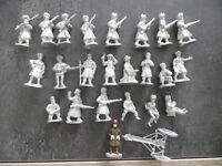 Lot de 24 figurines métal à peindre – Marque???