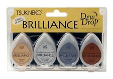 Brilliance Planetarium Dew Drop Ink Pads - 4 Piece Ink Set stamping & cards