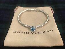 DAVID YURMAN Chatelaine Bracelet Sterling Silver with Blue Topaz 3mm $325 NWOT