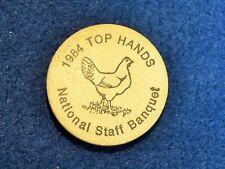 BSA WOODEN NICKEL…1984 TOPS HANDS…NATIONAL STAFF BANQUET